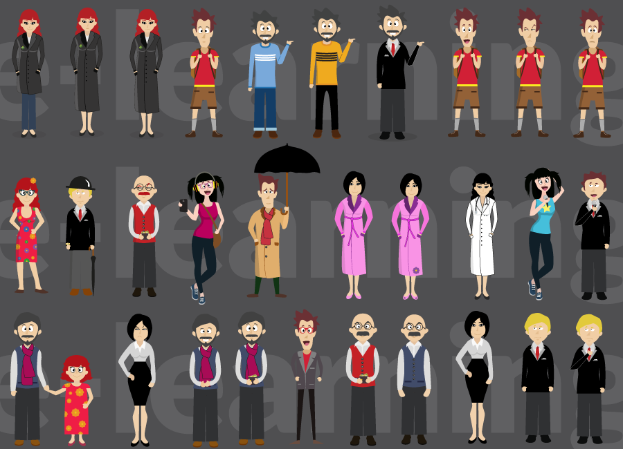 illustration - personnages e-learning